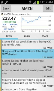 screenshot of Stocks: Realtime Quotes Charts version Varies with device
