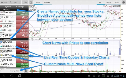 screenshot of Stocks: Realtime Quotes Charts version 3.2