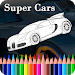 Super Car Colouring Games - Cars Coloring Book