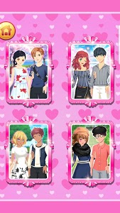 screenshot of Sweet Anime couple dress up version 2.0