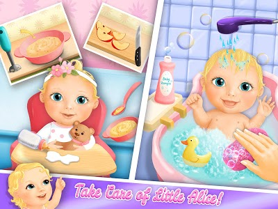 screenshot of Sweet Baby Girl Doll House - Play, Care & Bed Time version 2.0.22