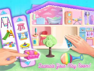 screenshot of Sweet Baby Girl Doll House - Play, Care & Bed Time version 1.0.47