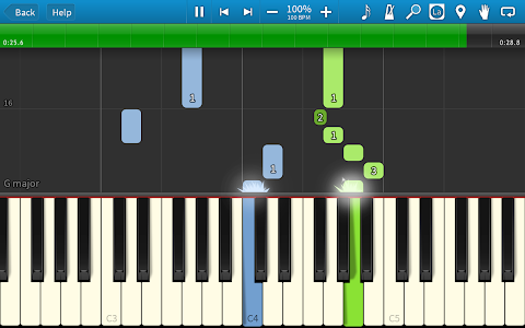 screenshot of Synthesia version Varies with device