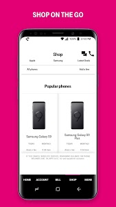 screenshot of T-Mobile version Varies with device
