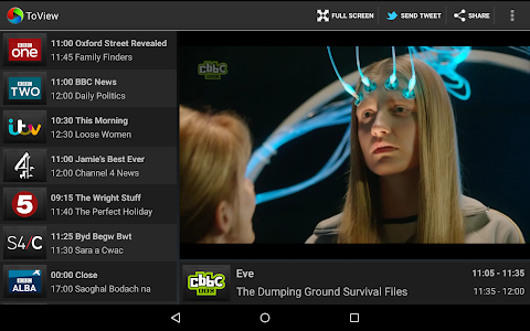 screenshot of ToView Live TV version 3.0.0