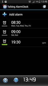 screenshot of Talking Alarm Clock version 3.1.6
