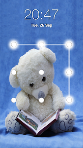 screenshot of Teddy Bear Pattern Lock Screen version 4.5