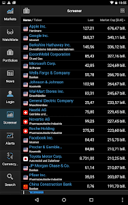 screenshot of StockMarkets – news, portfolio, watchlists, charts version 4.0