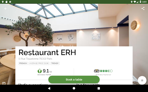 screenshot of TheFork - Restaurants booking and special offers version 15.3.3
