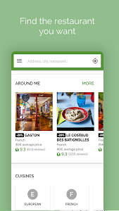 screenshot of TheFork - Restaurants booking and special offers version 13.0.0