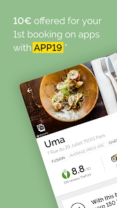 screenshot of TheFork - Restaurants booking and special offers version 13.5.2