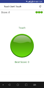 screenshot of Touch Don't Touch version 1.0