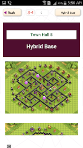screenshot of Town Hall Base Design for COC version 1.1