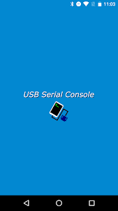 screenshot of USB Serial Console version 1.1.0