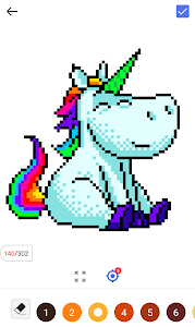 screenshot of Unicorn Panda - Color By Number version 1.0.2