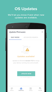 screenshot of Updates for Samsung - Android Update Versions version Varies with device