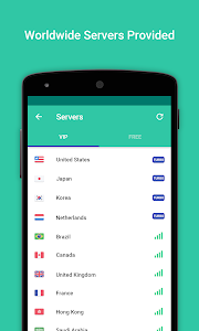 screenshot of VPN Proxy Master-Free security version 5.8.0
