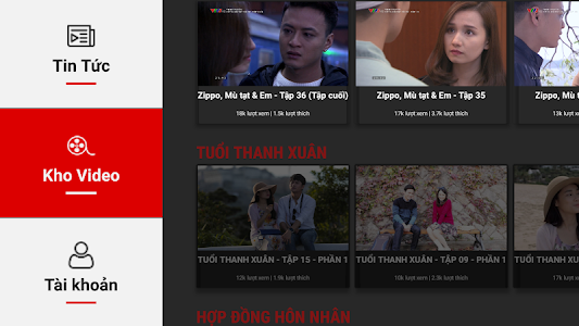 screenshot of VTV Go for Smart TV version 2.2.4-androidtv