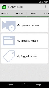 screenshot of Video download for facebook version 3.1