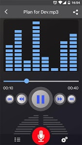 screenshot of Voice Recorder version 45