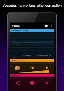 screenshot of Voloco: Auto Voice Tune + Harmony version 4.0