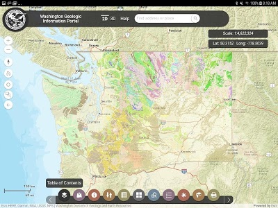 screenshot of Washington Geology version 2.0.1