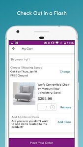 screenshot of Wayfair - Shop All Things Home version Varies with device
