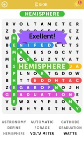 screenshot of Word Search version 1.0.2