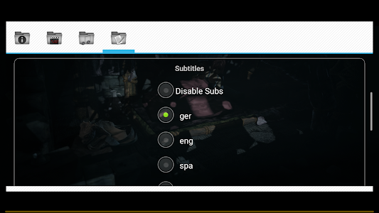 screenshot of Wuffy Media Player version Varies with device