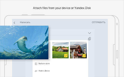 screenshot of Yandex Mail version Varies with device