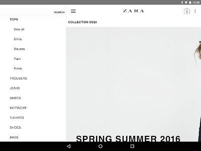 screenshot of Zara version 1.20.2