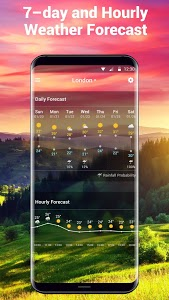 screenshot of free live weather on screen version 16.1.0.47691