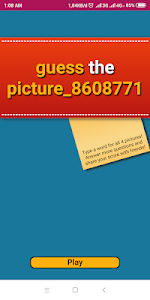 screenshot of guess the picture version 1.0