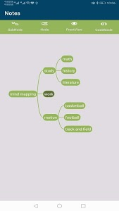 screenshot of mind mapping version 1.0.3