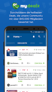 screenshot of mydealz – Gutscheine, Schnäppchen, Angebote, Sale version Varies with device